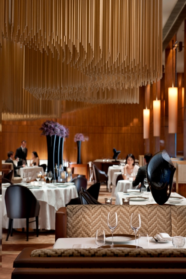 Amber restaurant at The Landmark Oriental hotel, Hong Kong