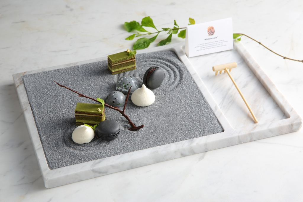 """""""ZEN GARDEN"""" - mignardises by Vicky Lau at Tate Dining Room, Hong Kong"""