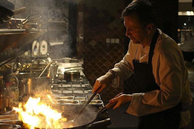 David Thompson in the kitchen