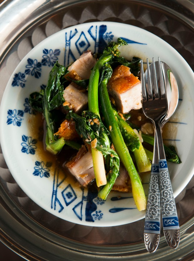 Stir fried pork  and broccoli