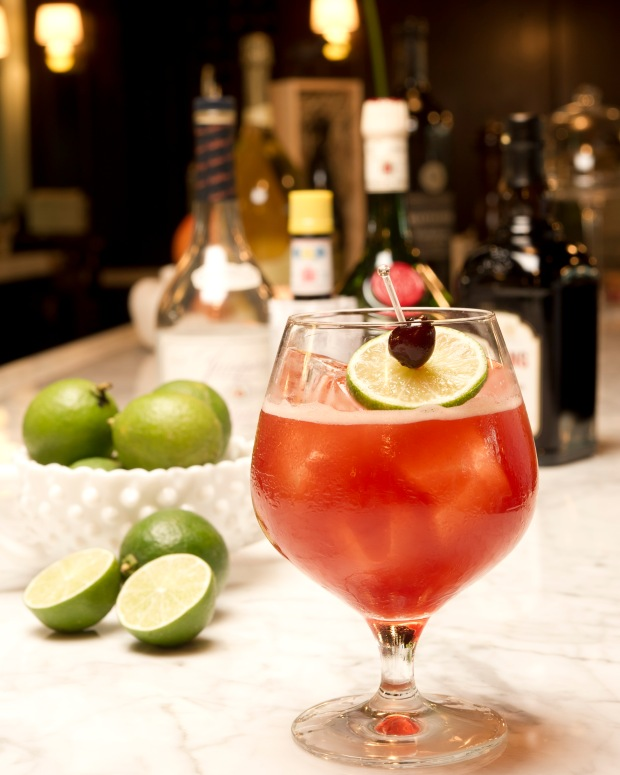 Singapore Sling 1913 at Osteria Mozza Singapore