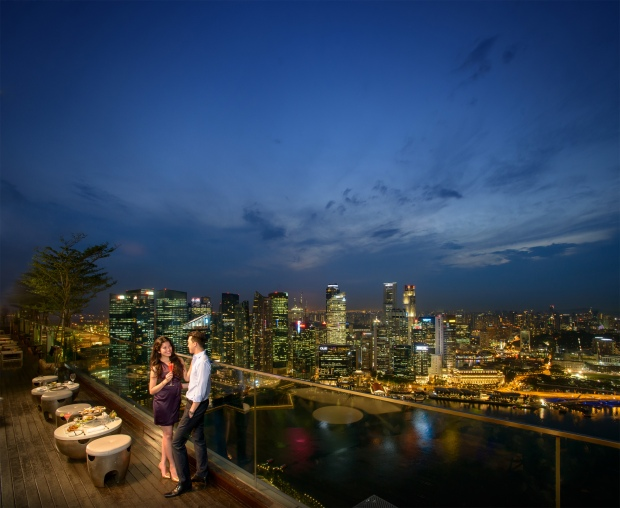 Singapore skyline at Sky on 57, Marina Bay Sands