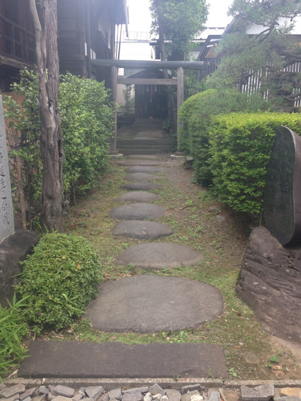 Courtyard at Masumi brewery, maker of Aman Tokyo blend sake