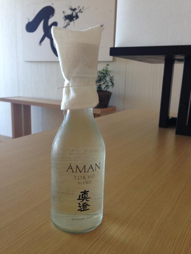 Aman Tokyo Blend sake by Masumi