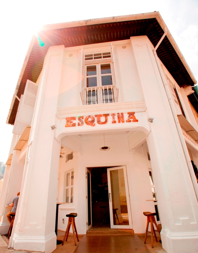Esquina, one of Jason Atherton's restaurants in Singapore