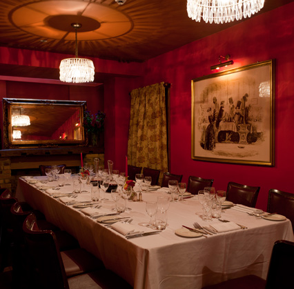A private room at The Bleeding Heart, London