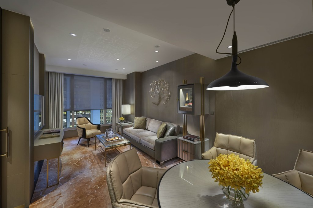 Redesigned suite at The Landmark Oriental Hong Kong