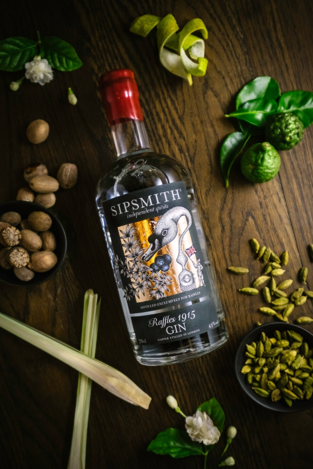 Raffles 1915 gin by Sipsmith has an overlay of local spices
