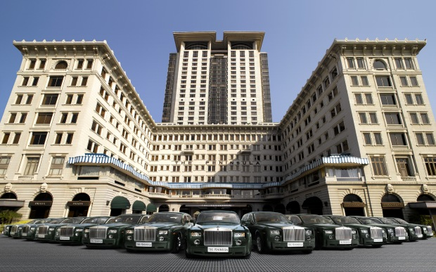 Rolls Royce fleet at The Peninsula Hong Kong