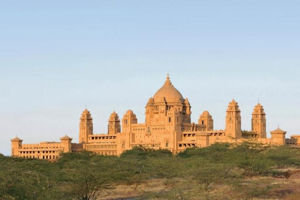Taj umaid palace exterior on horizon