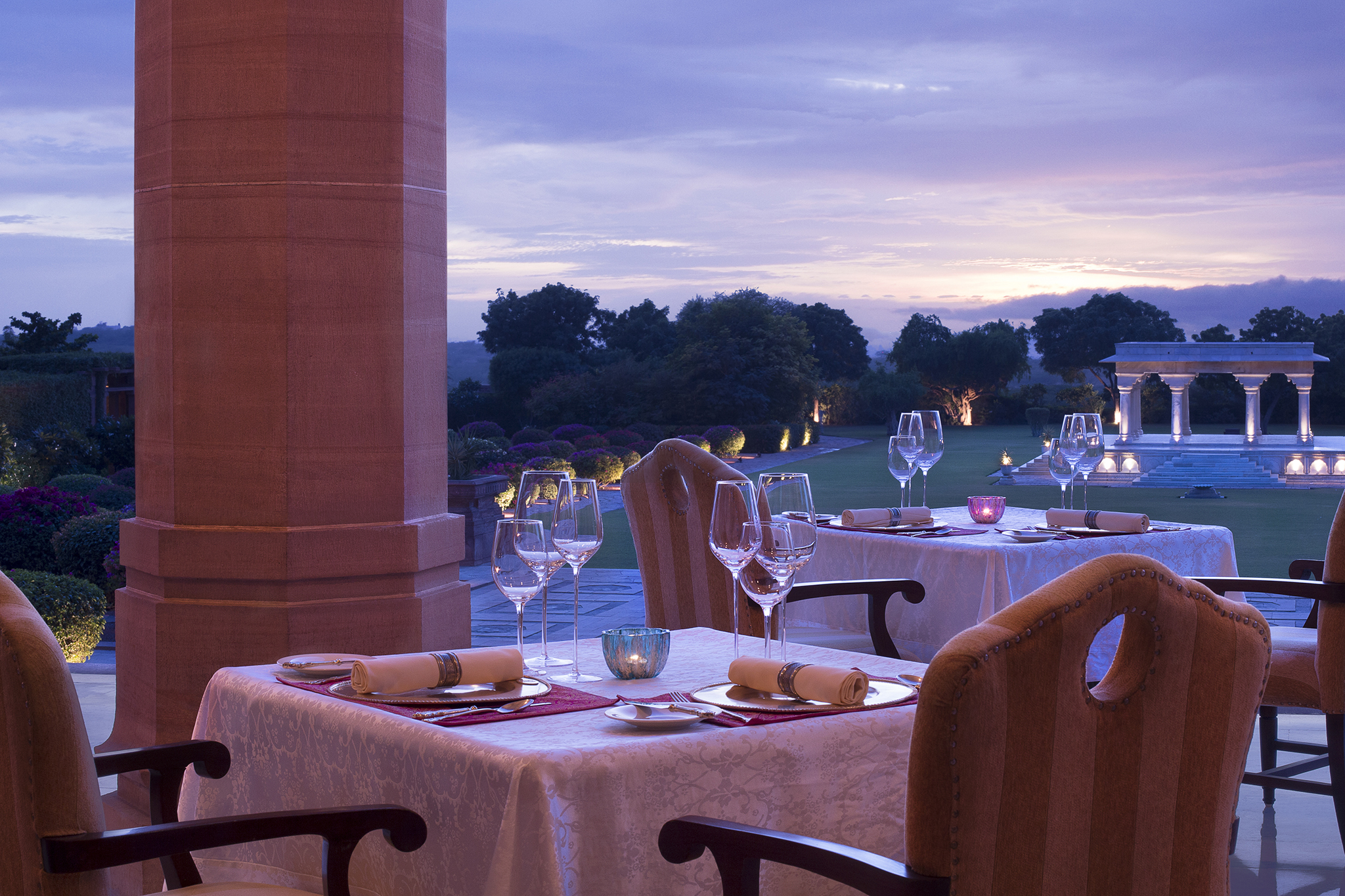 Taj Umaid Pillars restaurant
