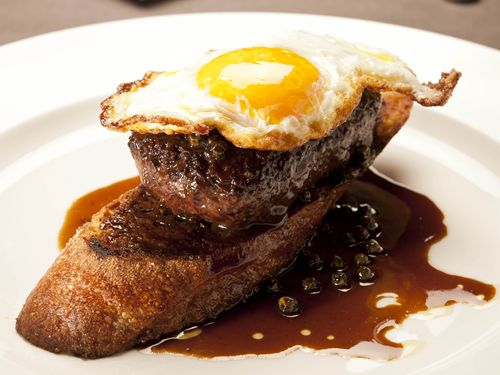 Wagyu Beef and Fried Egg at Osteria Mozza