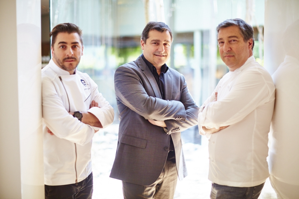 Jordi, Josep and Joan Roca at the three Michelin-starred El Celler de Can Roca in Girona, who have launched an exclusive dining experience in partnership with American Express Invites® at Felix restaurant at The Peninsula Hong Kong on 3 and 4 June 2016 - their first in the City - offering American Express Centurion Members access to one of the most sought after chef's tables in the world. Copyright David Loftus.