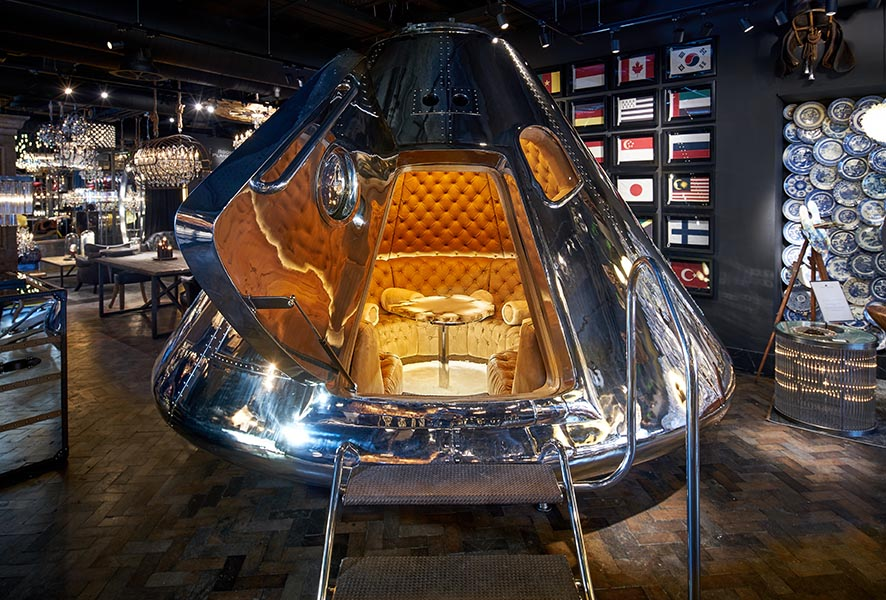 Timothy Oulton spaceship capsule